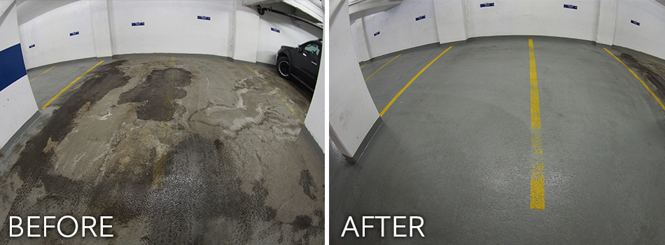 Edmonton Parkade Sweeping Before and After