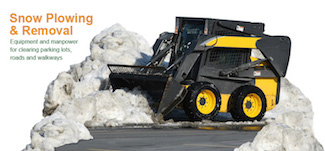 edmonton snow plowing parking lot clearing bobcat