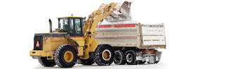 edmonton snow removal company - truck and tractor moving snow